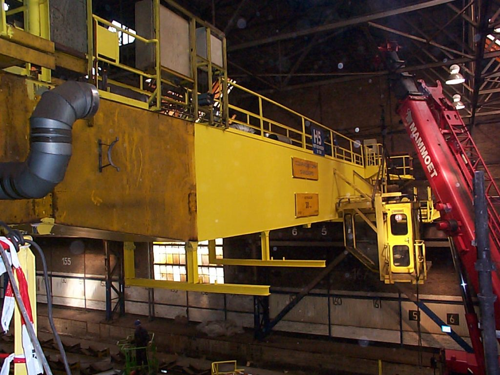 Tata Steel verplaatsen kraanopgang