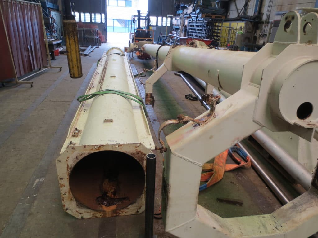Reparatie Siwertell stortpijp (1)