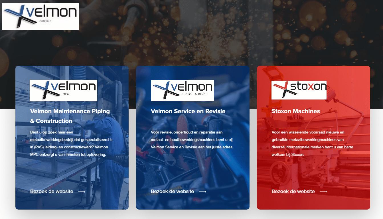 Velmon Group logo's