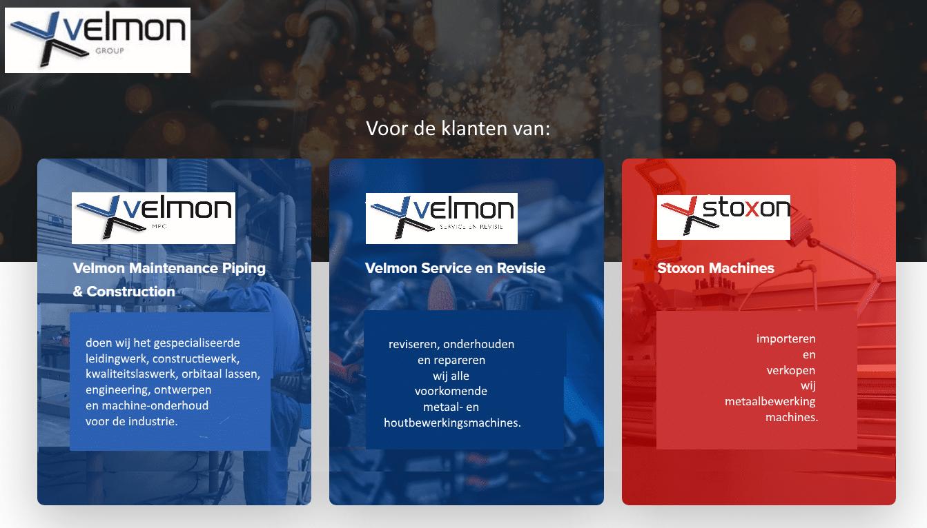 Velmon Group logo's klanten
